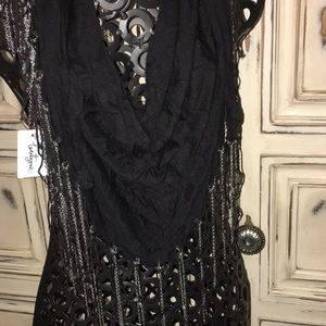 NWT-Forever 21 Black/Silver Scarf